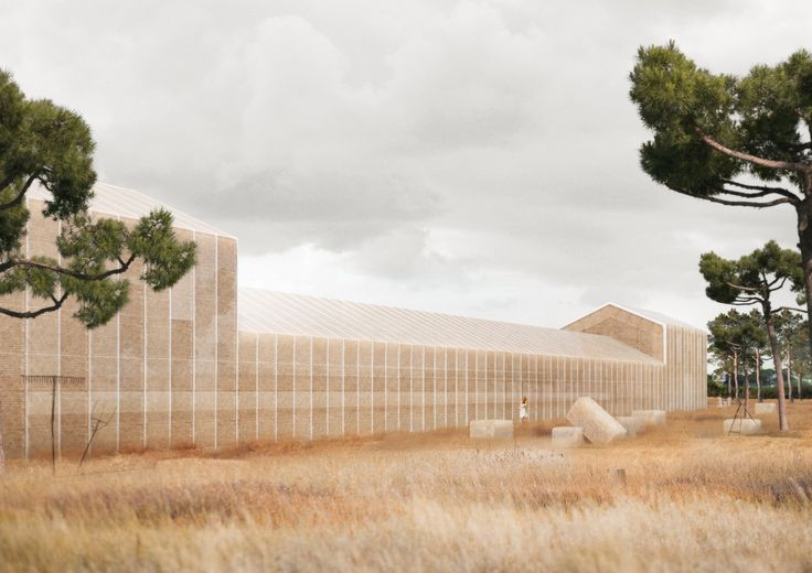 Georges Batzios Architects Propose Cultural Center Made Entirely of Straw