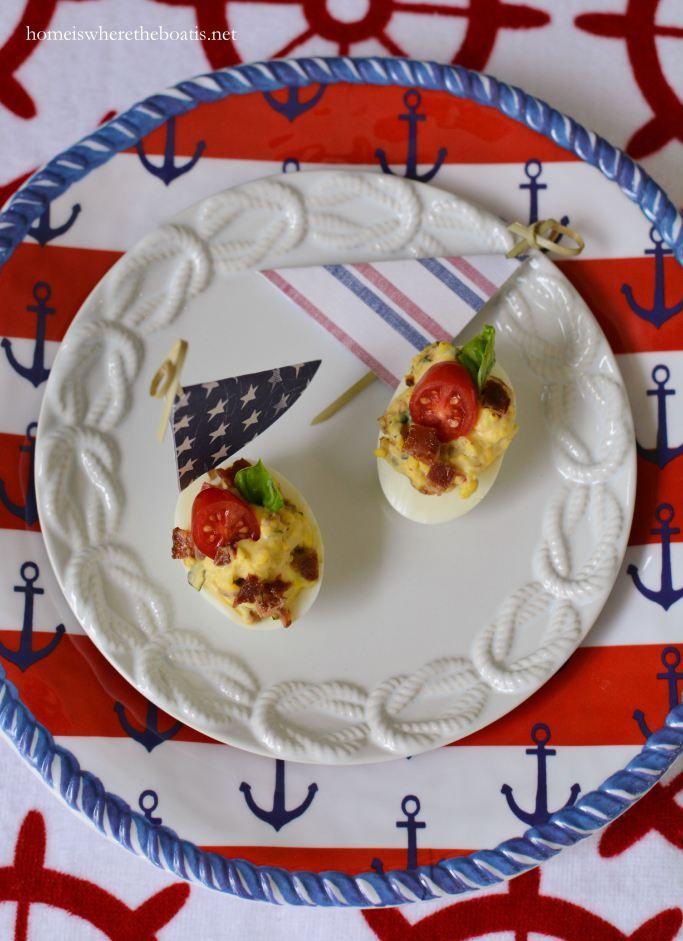 Deviled Egg Boats! | homeiswheretheboatis.net #recipe #nautical