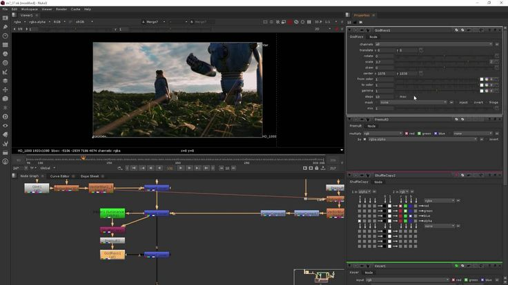 Module 7 Adding Effects - NUKE for After Effects users, part7 (GODRAY)