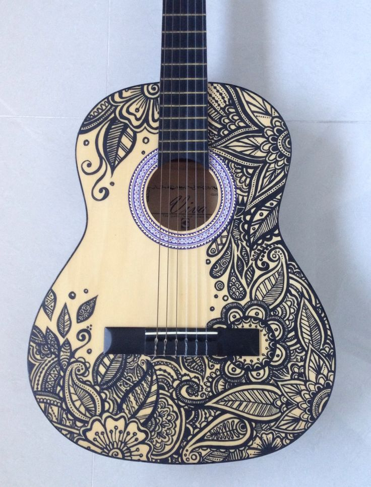 Newest Art Project - Painted Guitar! - Album on Imgur                                                                                                                                                                                 More