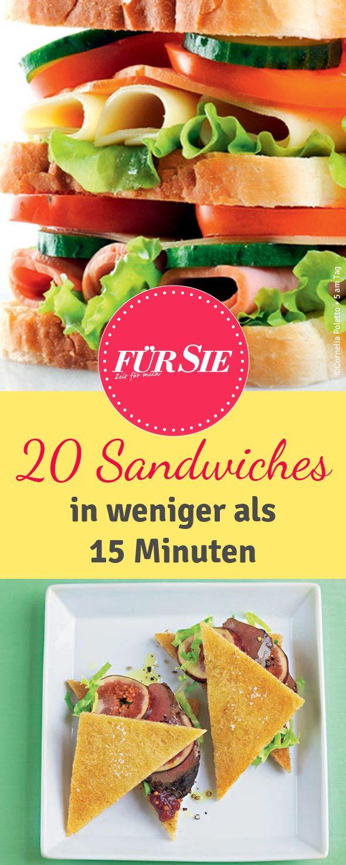 Mit Toast, vegetarisch oder amerikanisch: Wir haben viele verschiedene Sandwich-Rezepte zusammengestellt.