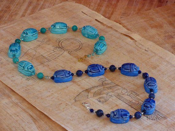Day & Night Scarab Prayer Beads by Northern Tamarisk