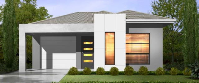 The Casoria Facade Option 02 - from the Weeks Peacock Homes Alfresco Living Range. Packed into this narrow design are all the features you would expect from any large family home. The beautiful light filled master bedroom features intelligent storage solutions and flows to a functional ensuite.
