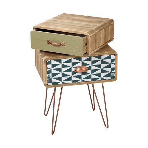 MOBILE IN LEGNO O1306 - mobile in legno con cassetto superiore girevole - wooden cabinet with turnable upper drawer - www.mascagnicasa.it