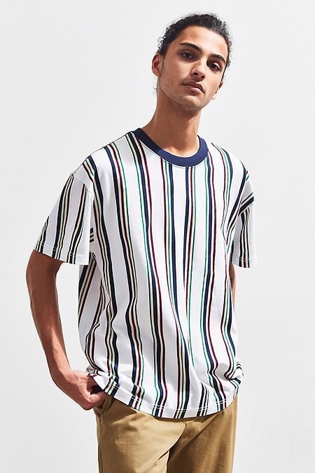 f75cc30d UO Dillon Vertical Stripe Tee | Clothes in 2019 | Vertical striped ...
