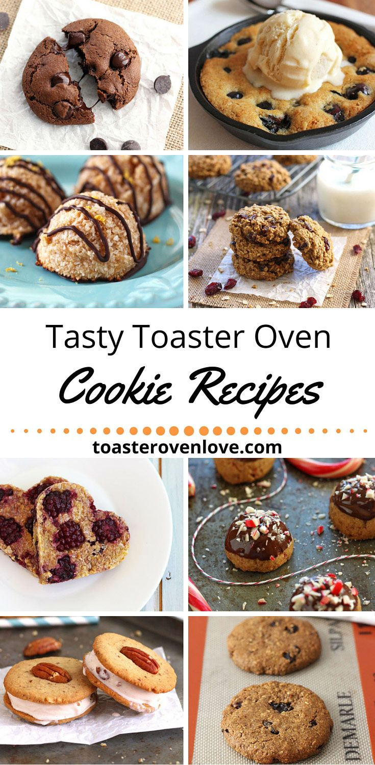 Cookie Recipes For Your Toaster Oven!  From bakery style oatmeal raisin to fruit-based no sugar added there's a toaster oven cookie recipe here for every cookie craving.