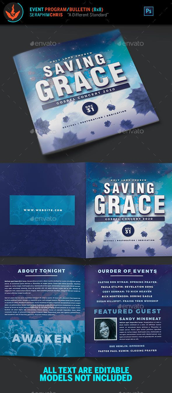 gospel concert program template informational brochures