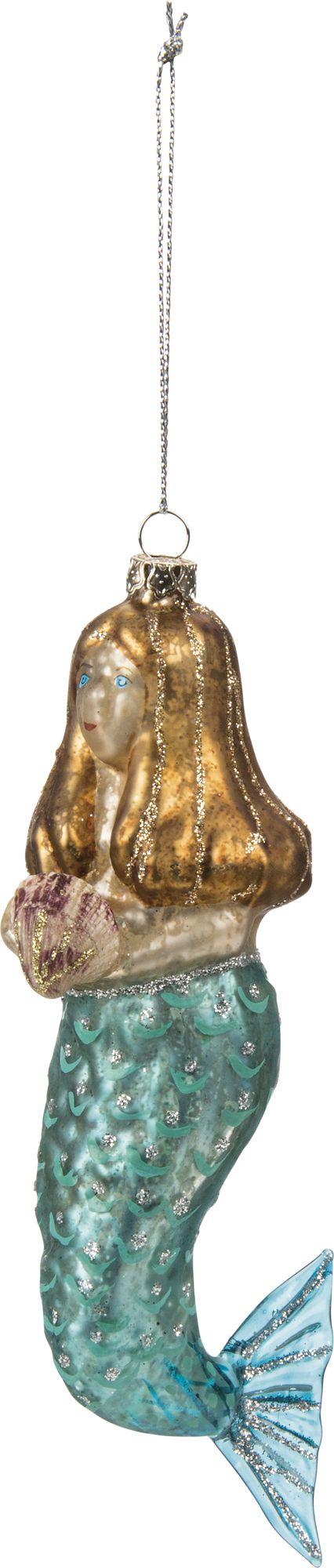 Glass-mermaid-ornament At Seasideinspired.com Beach Ocean Home Decor