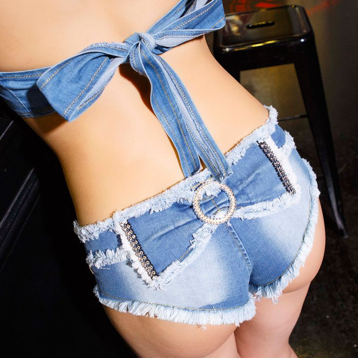Women Sexy Short Jeans 2016 Summer Fashion Bow Decor Ladies Club Wear Low Rise Slim Sexy Denim Shorts Feminino
