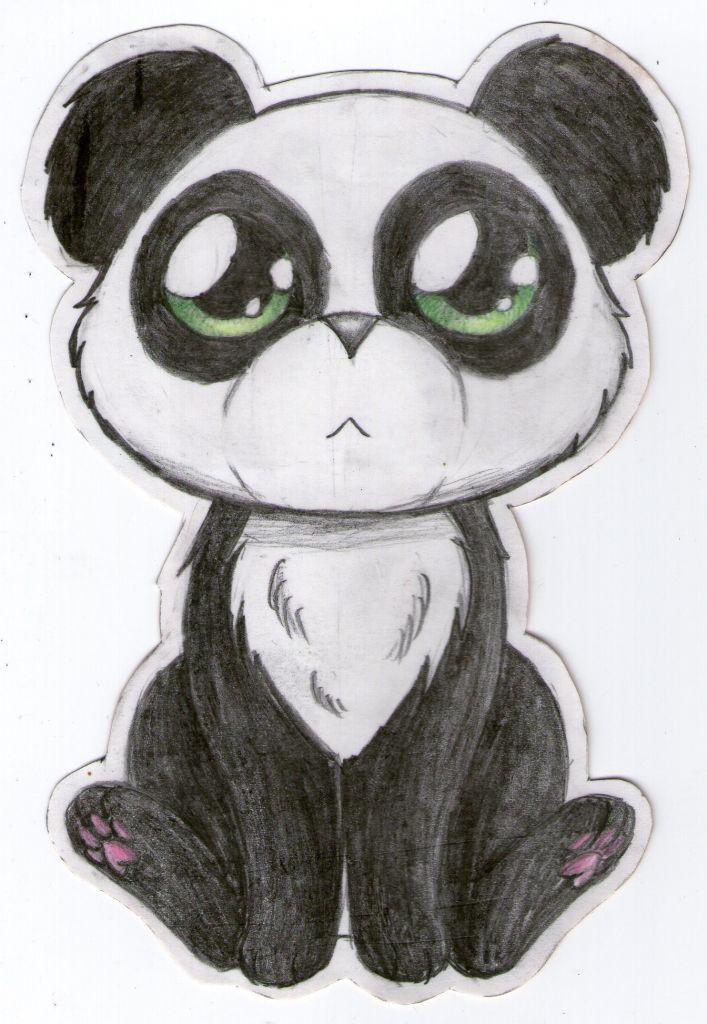 Easy Panda Sketch Drawing How To Draw A Baby Panda Easy Together With How To Draw Panda Drawing Panda Sketch Cute Drawings