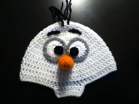 Olaf frozen hat by CrochetMeNerdy on Etsy, $15.00