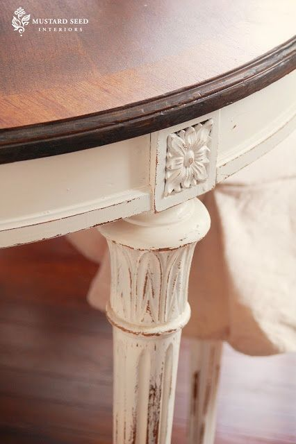 Information about top coats when painting furniture