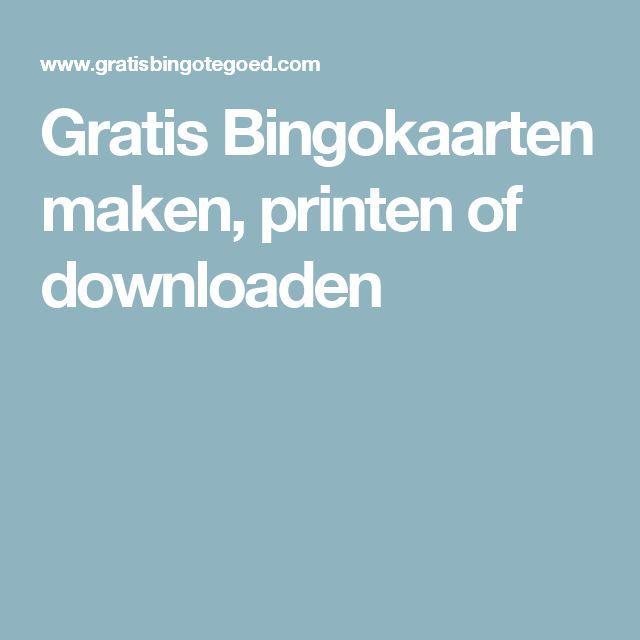 Gratis Bingokaarten maken, printen of downloaden