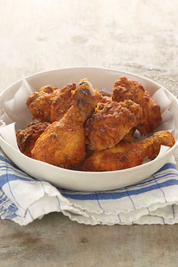 "Oven Fried Chicken via Chobani. Looks so crunchy and delicious, just like ""fried"" chicken should."