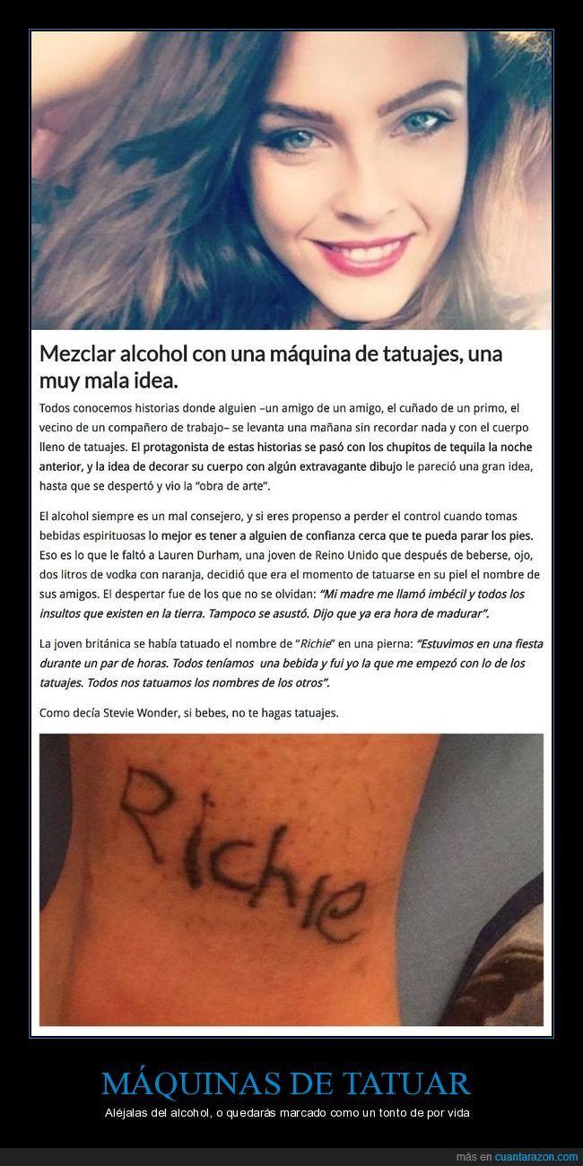 Esta chica mezcló vodka con una máquina de tatuajes y cometió el error de su vida - Aléjalas del alcohol, o quedarás marcado como un tonto de por vida   Gracias a http://www.cuantarazon.com/   Si quieres leer la noticia completa visita: http://www.skylight-imagen.com/esta-chica-mezclo-vodka-con-una-maquina-de-tatuajes-y-cometio-el-error-de-su-vida-alejalas-del-alcohol-o-quedaras-marcado-como-un-tonto-de-por-vida/