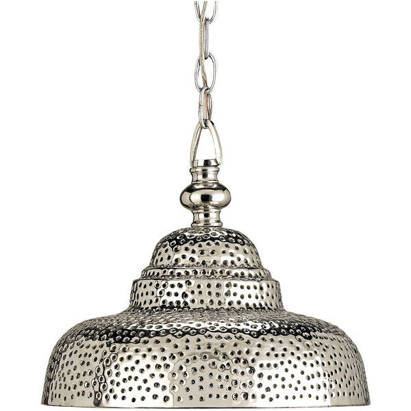 Industrial Loft Modern Rustic Pierced Metal Pendant Lamp found on Polyvore