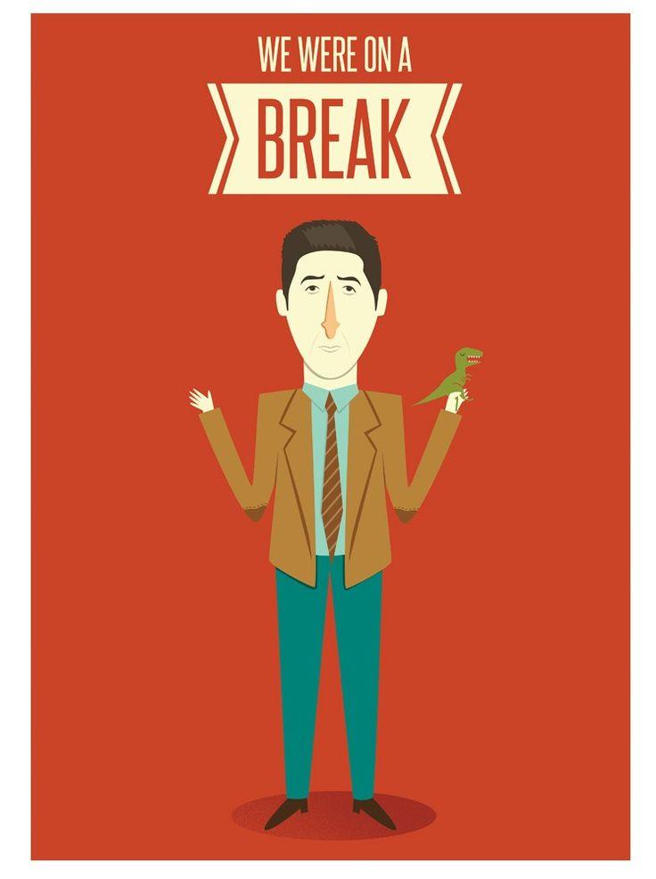 Poster FRIENDS. Ross Geller