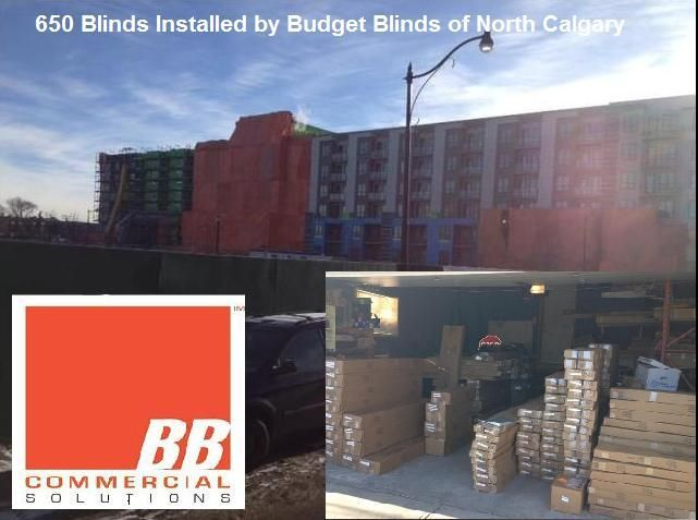 Budget Blinds Commercial Solutions job: 650 blinds installed