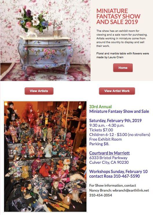 2019 Miniatures West Fantasy Show and Sale, Culver City, California