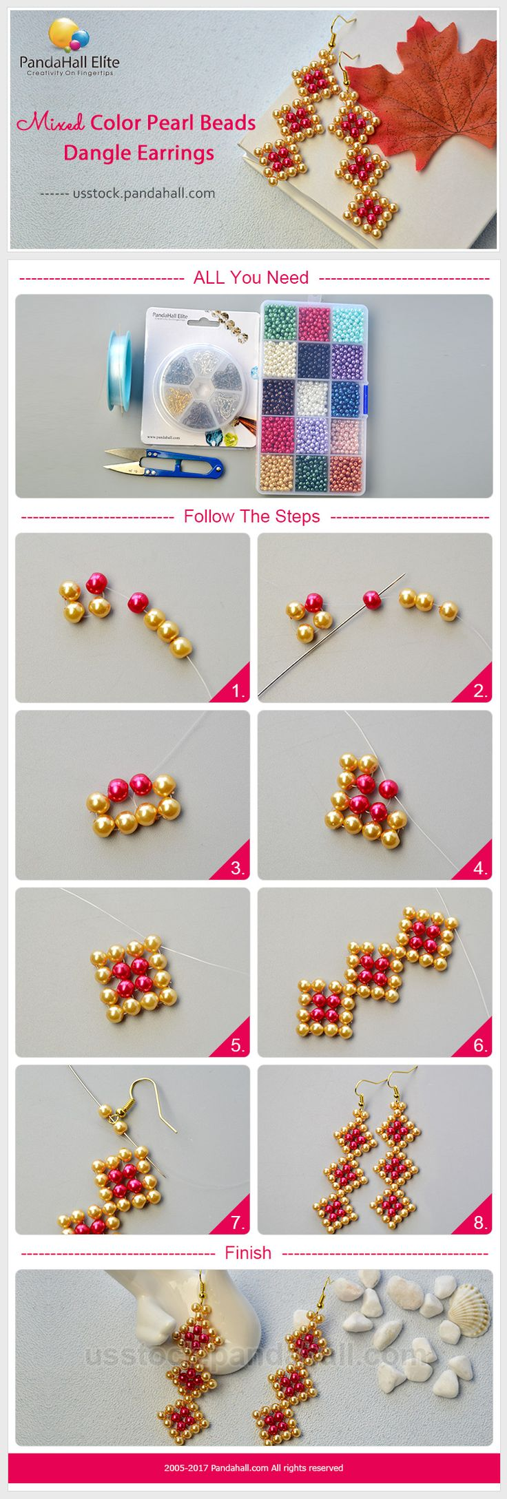 PandaHall Elite Craft Ideas: How to make golden chain bracelet with glass beads #pandahallelite #craft #bracelet #glassbeads #handmadebracelet