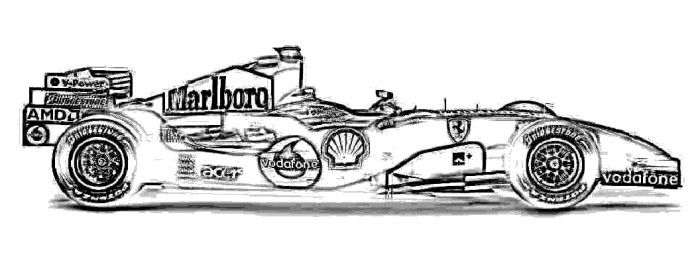 Formula 1 Coloring Book F car colouring pages Gusto car coloring