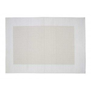 Beautiful synthetic placemat in white with folded edges from Dixie