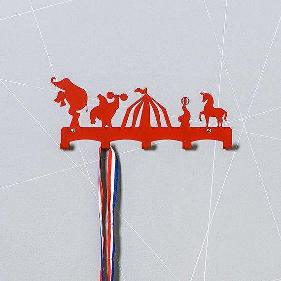 Circus Theme Kids Coat Hanger / Kids Room Ideas / by Einadesign