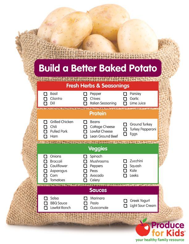 Build a Better Baked Potato | Produce For Kids