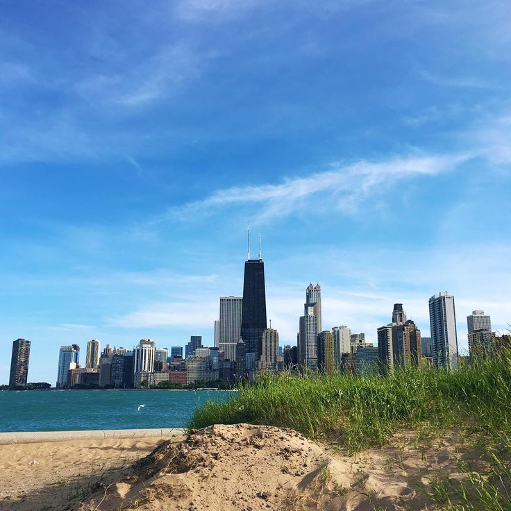 The view from North Ave. Beach.