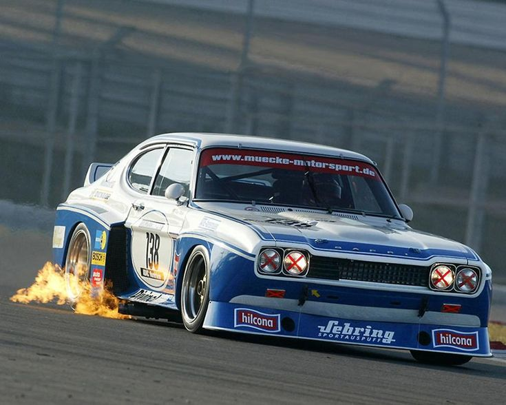 Ford Capri. Works RS2600 turbo by the look of the flames Bob Wolleck at the wheel