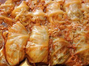 """Cabbage Rolls by """"The Cabbage Roll Queen,"""" Josephine Gresko."""