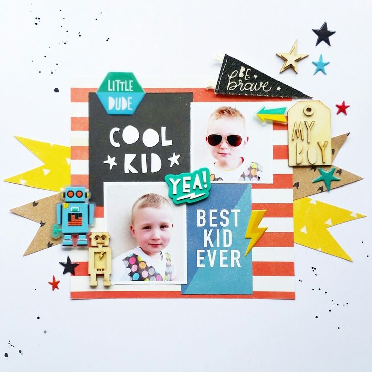 #scrapliftsunday with @paperissues 'cool kid' Layout by Amanda Baldwin featuring Crate Paper Cool Kid collection