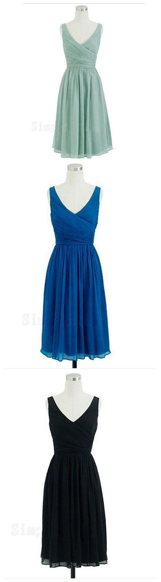 short bridesmaid dress, cheap bridesmaid dress, chiffon bridesmaid dress…
