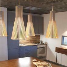 Modern Restaurant Wood Pendant Light Home Decroative Loft Lamp Hotel Bedroom Scandinavian Lighting Bar Wood Pendant Light(China (Mainland))