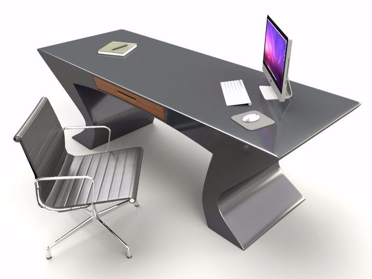 Lacquered Adamantx® office desk with drawers NEFERTITI by ZAD ITALY design Francesco Bazzica