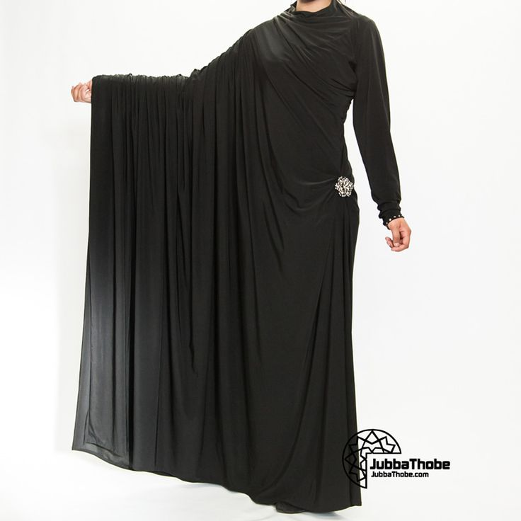 """Abaya - """"cloak"""" ometimes also called an aba, is a simple, loose over-garment, essentially a robe-like dress, worn by some women in parts of the Muslim world including in North Africa and the Arabian PeninsulaThe abaya covers the whole body except the face, feet, and hands. It can be worn with the niqāb, a face veil covering all but the eyes. Some women choose to wear long black gloves, so their hands are covered as well."""