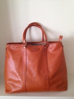 Favourite Lou Harvey orange bag