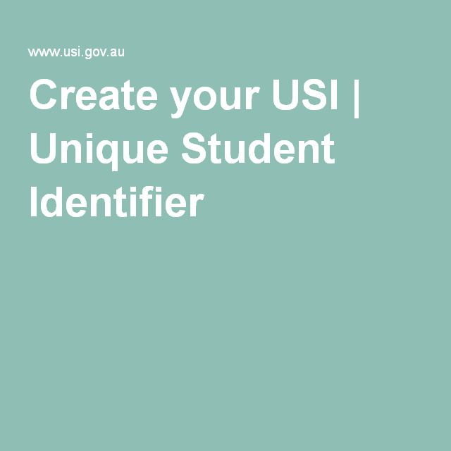 Create your USI | Unique Student Identifier
