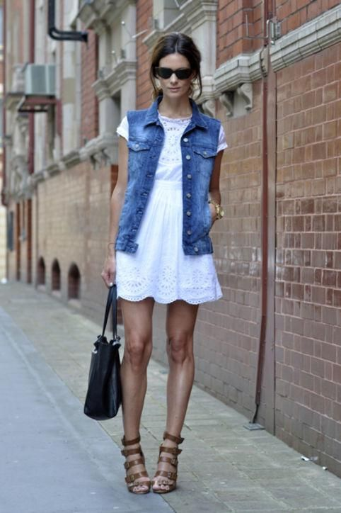 Summer denim outfit ideas: how to wear a denim vest