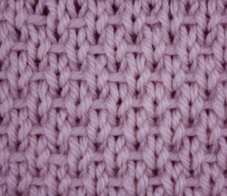 """The ribboned stockinette is an easy reversible stitch created with simple knit, purl and slip stitches. It got its name from the horizontal lines of yarn running through the right side rows. This stitch is remarkable also because its """"wrong"""" side can be seen by many as more beautiful than the right side."""