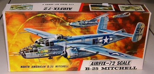 Vintage Mitchell B-25 Model Kit by Airfix, 1/72-Scale