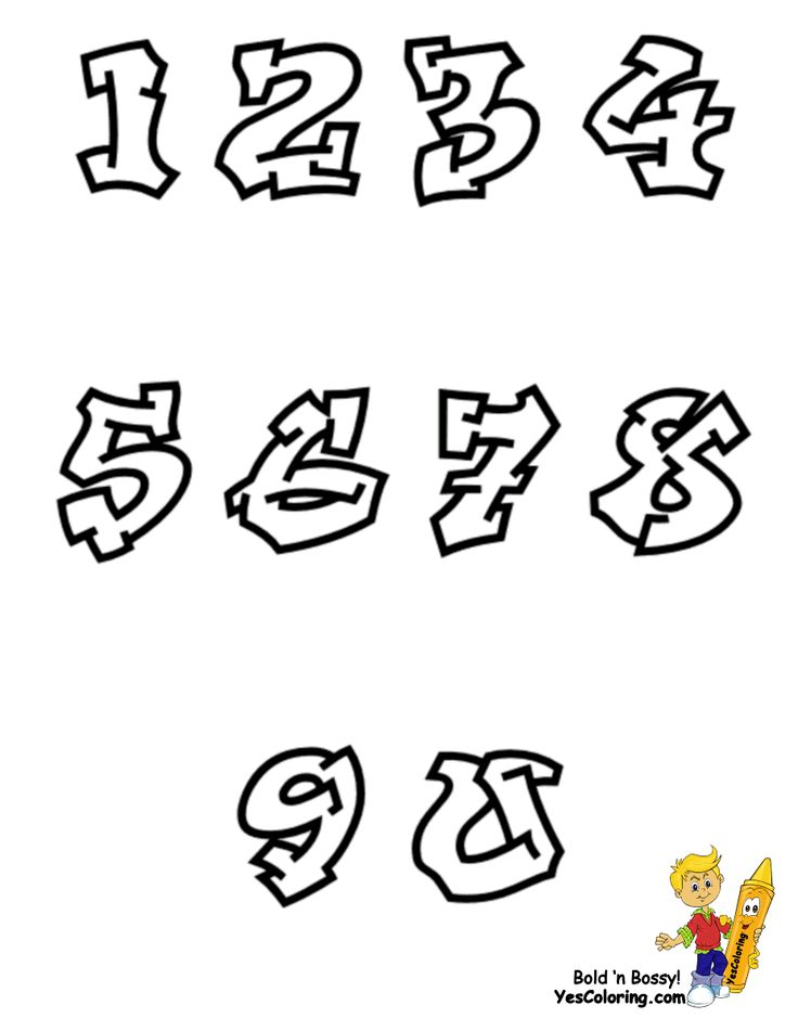 Smooth Graffiti ABC Coloring Pages for You Kids. Free alphabet coloring of letters, numbers, and exclamation mark, too. Graffiti printables for scrapbooks, signs, bulletin boards, decor...