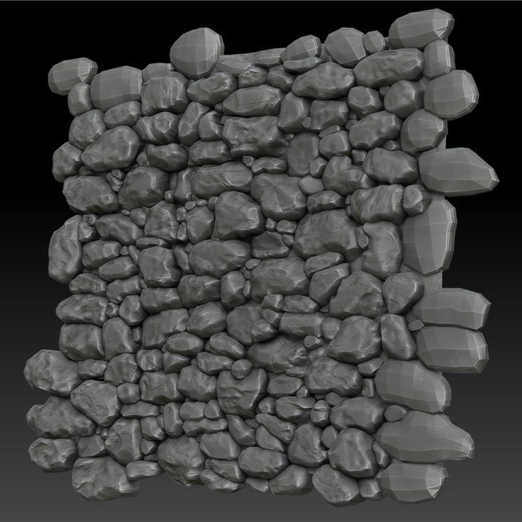 modular rock wall 3d art - Google Search