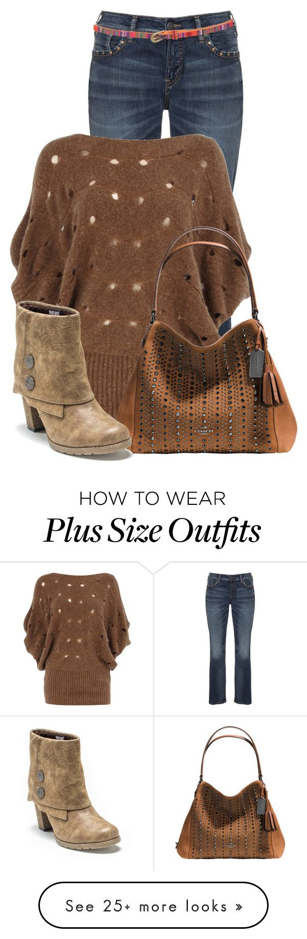 """""""Untitled #14218"""" by nanette-253 on Polyvore featuring Silver Jeans Co., Dorothy Perkins, Pilot, Coach, Muk Luks, women's clothing, women, female, woman and misses"""