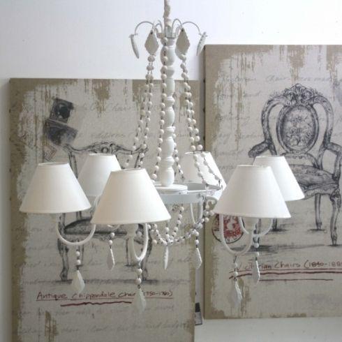 Oltre 25 fantastiche idee su lampadario shabby chic su for Lampadario stile shabby