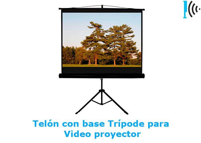Mira telones con base trípode de vídeo beam en nuestro portafolio en linea:  http://telonescolombia.com/Catalogo-de-pantallas-de-proyeccion-para-video-beam-Telones-Colombia.html
