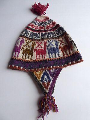 Peruvian Andean Mountain Shaman Chullo Hat