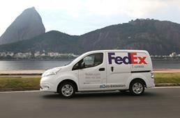 A Nissan e a FedEx Express começam a testar o Nissan e-NV200, um veículo comercial leve 100% elétrico, em situação real no Brasil.