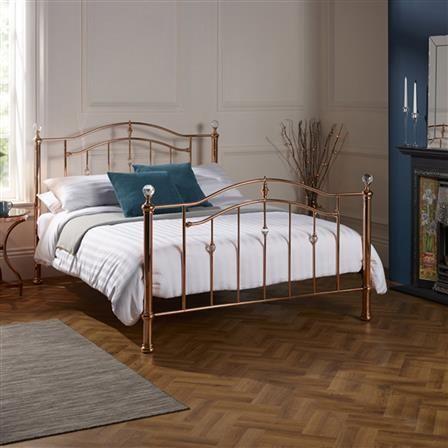 ashley king metal bed frame rose gold choose set
