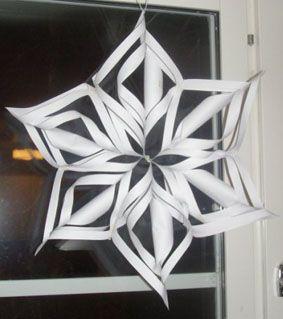 Julstjärna! - Papperspyssel - Pyssel iFokus